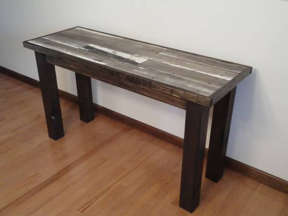 Items similar to recycled boat wood sofa table upcycled