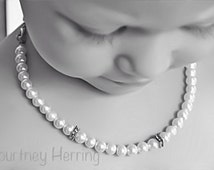 Convertible Pacifier Clip Pearl Handmade Keepsake Necklace, Bracelet, and Matching Mother's Bracelet