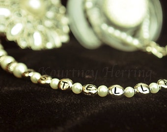 Pacifier Clip 5in1 Convertible Beaded Pearl Necklace Handmade Personalized