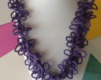 Spring Summer Handmade Crochet Necklace