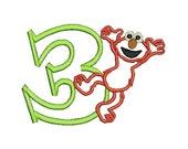 Elmo Applique, Elmo Birthday, Sesame Street, Applique, Embroidery Design (100) Instant Download