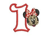 Minnie Mouse Design, Minnie Mouse Birthday, Embroidery Design (132) Instant Download