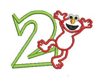 Elmo Applique, Elmo Birthday, Sesame Street, Applique, Embroidery Design 96. Instant Download