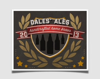 Father's Day gift - Customized Brewery Sign - Home Brew Art - Kitchen Art - Craft Beer Sign Pool Room Decor Beer Quote Fathers Day