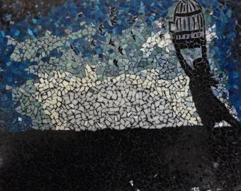 Free Bird - Beautiful Silhouette Glass Mosaic
