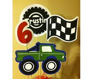 Monster Truck Birthday Centerpiece