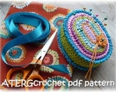 Crochet pattern PINCUSHION OVAL by ATERGcrochet