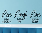 Live Laugh Love Wall Decal Master Bedroom Wall Decor Family Wall Sticker Living Room Removable Decorations Vinyl Lettering Love Quote