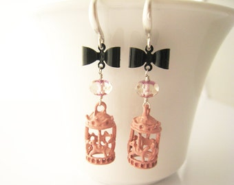 merry go round earrings carousel earrings pink spring springtime circus jewelry summer gift