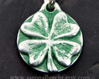 Dog Tag Pet ID Tag Dog Collar Tag 4 Leaf Clover
