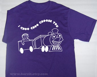 Steam Train I Choose You Valentine's/Anniversary Day Geek Funny Humor Tshirt Unisex Size Small Medium Large XLarge