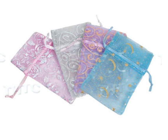 96 Sheer Jewelry Organza Drawstring Pouch Bags 2.75x4.75