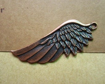 10pcs 54x22mm antique copper wing flyer charms pendant R27187