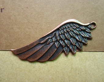 10pcs 54x22mm antique copper wing flyer charms pendant R27187
