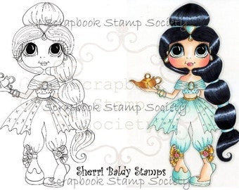 INSTANT DOWNLOAD Digital Digi Stamps Big Eye Big Head Dolls Digi IMG572 By Sherri Baldy