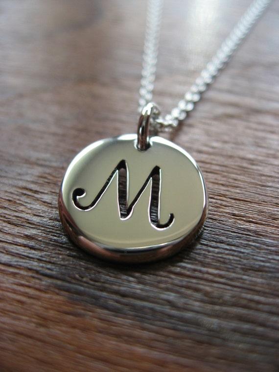 M Letter In Silver Letter M Initia...