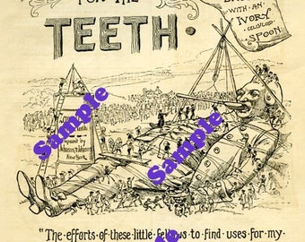 TREASURY ITEM-Digital Download-Vintage Zonweiss Ad with Gulliver