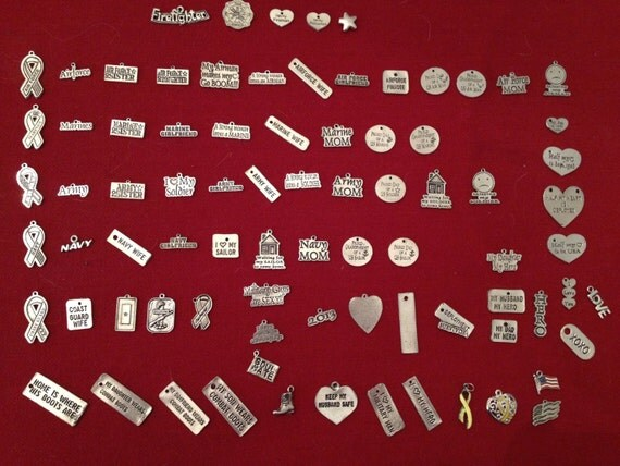 Miscellaneous Military Charms (ONLY ORDERED WITH an existing order as additional charm(s)