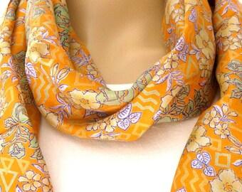 Sale Infinity Scarf, Silk scarf