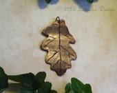 Copper Oak Leaf Pendant