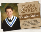 Graduation Photo Thank You, graduation invitation, class of 2013 (Digital File)