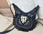Bib necklace, zip it zippers jewelry.