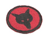 Vintage Boy Scout Badge Patrol Patch Wolf Head Red 30s