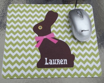 Chocolate Bunny Personalized Mousepad