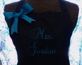 Personalized Apron for Bride Wedding Shower Gift