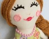 Marigold -Cloth Doll - Rag Doll - Fabric Doll - One of a Kind - Handmade by Rae