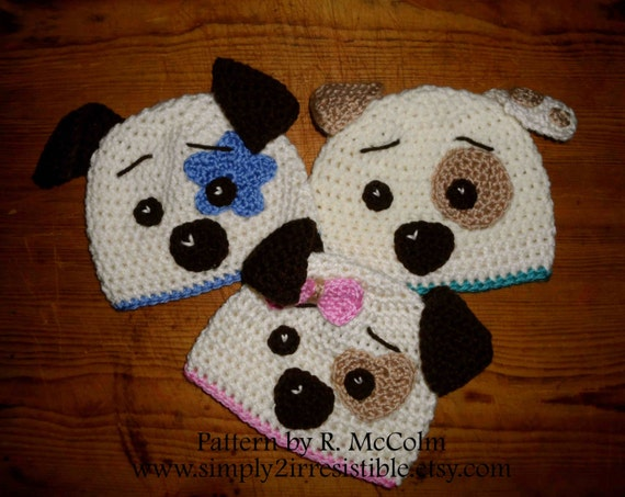 Crochet Pattern Baby Dog Hat : Hound Dog Hat Crochet Pattern 19 Beanie and Earflap