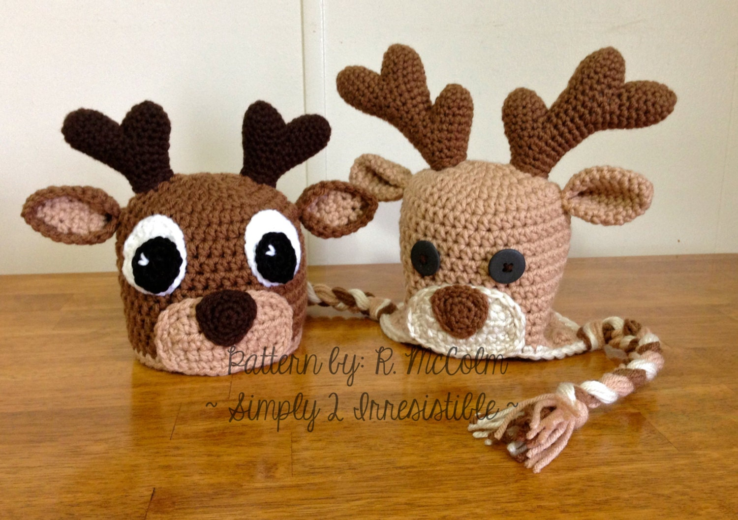 Free Crochet Dog Reindeer Hat Pattern : Deer or Elk Hat Crochet Pattern 58 US and UK Terms