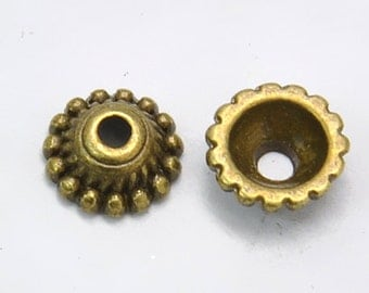 Antique Bronze bead caps,  8x3mm, 200pcs FREE SHIPPING within USA