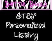 Personalized Listing - IU Wine Glass