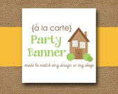 Made to Match PARTY BANNER - DIY Printable - Personalize and Coordinate with Any Design in My Shop