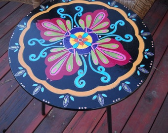 Made To Order ** Gypsy Chic Handpainted Accent Table