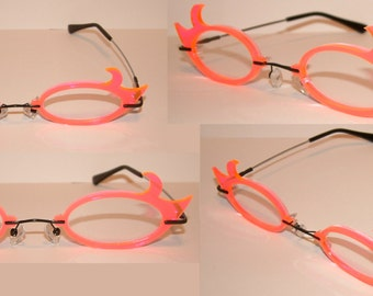 Oval hooks cosplay costume glasses