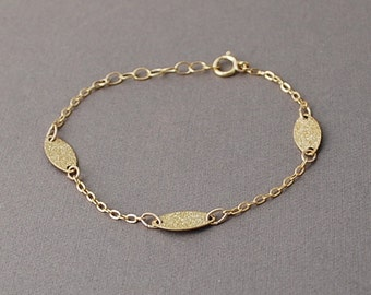 Gold Three Wishes Sparkle Bracelet