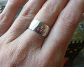 Vintage Sterling Silver Ring - Handmade Silver Band Size 7
