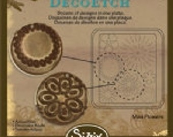 Sizzix DecoEtch Die - Mod Flowers by Vintaj - NEW DESIGN