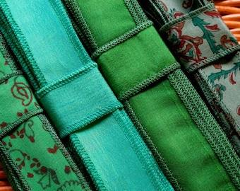 SALE! Silk Sari Ribbon, 4 colors,  C15
