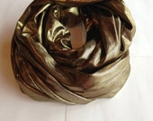 Gold Lame Infinity Scarf, infinity scarf, loop scarf, circle scarf, fashion infinity scarf, scarf, pashmina infinity