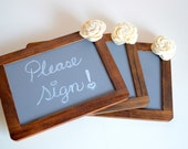 Rustic Wedding chalkboard Sign - SET OF 3