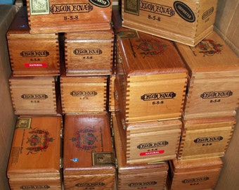 Cigar Box Wooden Chest Fuente Flor Fina 8-5-8 Brass Closure Bridal Wedding Party Group Gift Box Dozen In Stock by IndustrialPlanet