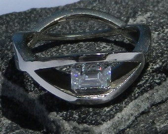 GIA Certified .72 Carat Diamond Engagement Ring 14kt Solid Gold W/ GIA Laser Inscription