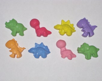 Mini Dinosaur Shaped Sidewalk Chalk - Set Of 8 - You Choose The Colors
