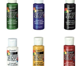 6 Piece Acrylic Paint Set - Primary Colors