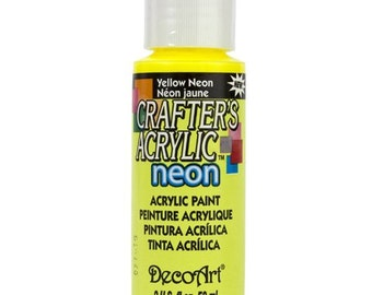 Neon Yellow Acrylic Paint (2oz)