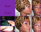 NEFERTARI NOSE CHAIN - (piercings required - chain only - ring/stud not included)