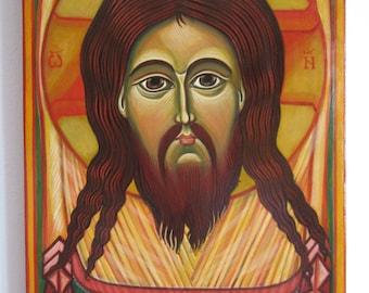 Mandylion. The Holy Face. Jesus Christ. Byzantine icon handmade painting Orthodox icon Catholic icon Romanian icon Russian icon Available